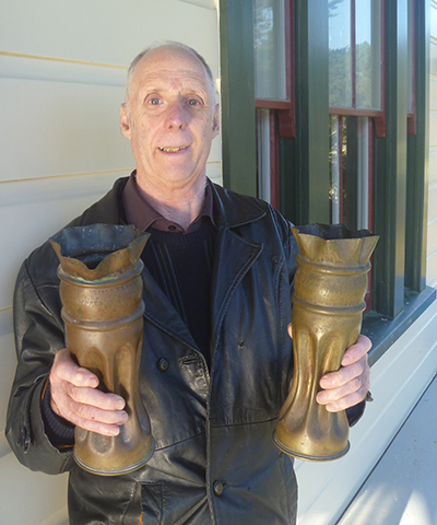 Paul Bicknell and WWI brass shell vases