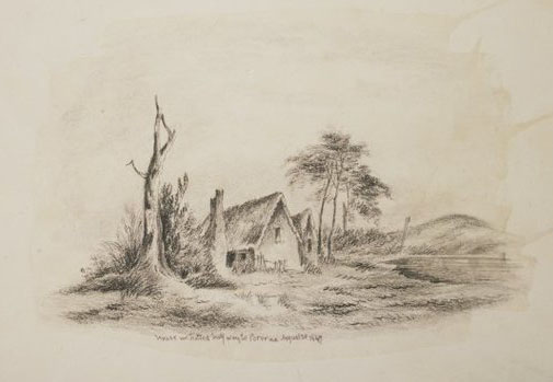 1849 sketch of the Halfway House