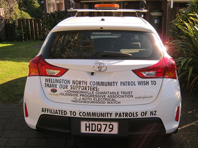 Wellington North Community Patrol Car